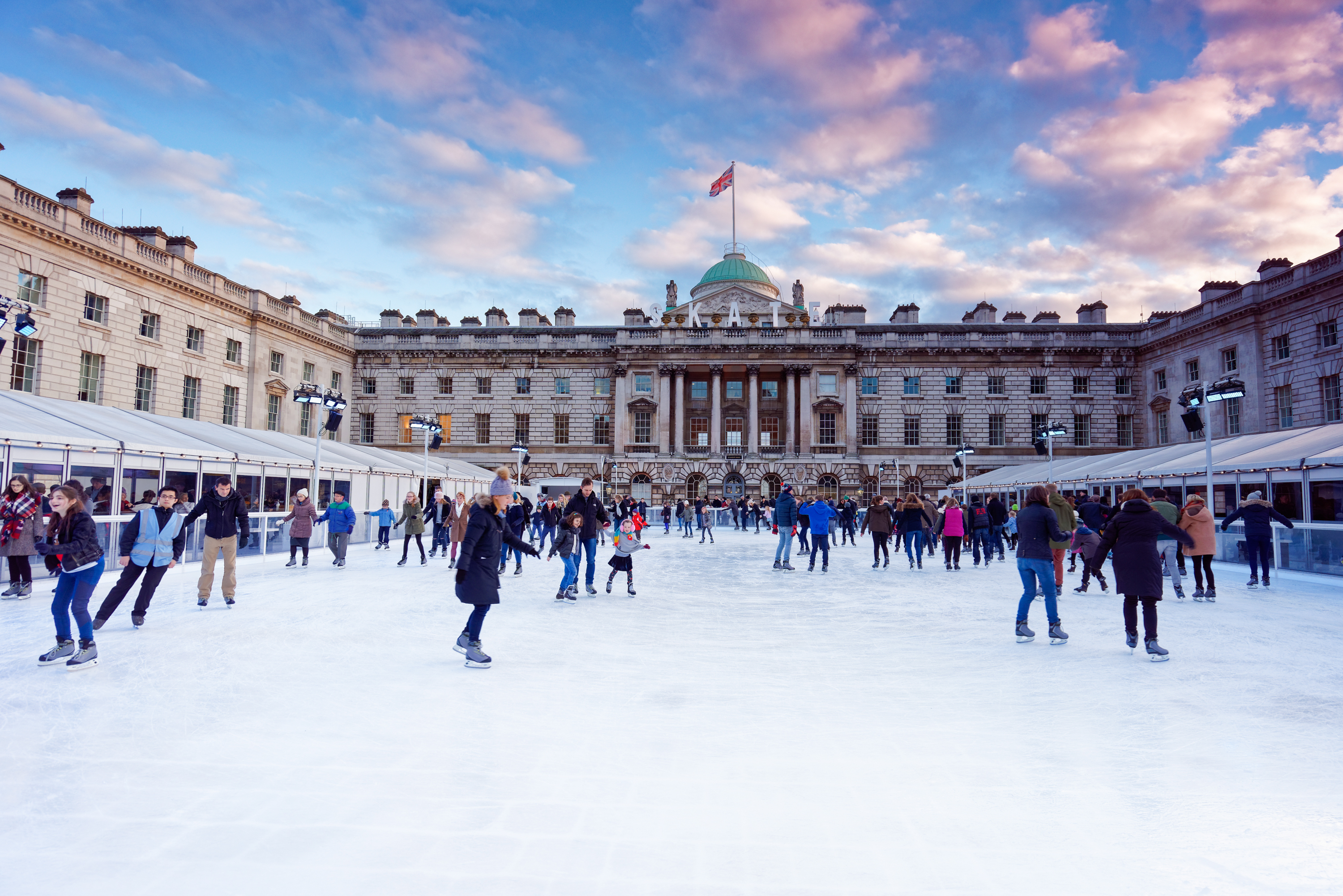 Fancy some Somerset House skating? Find out everything through SMC Coach Hire.